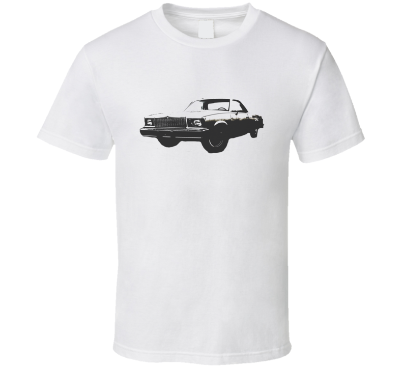 1978 GMC CABALLERO Faded Look Side View Black Graphic Light T Shirt