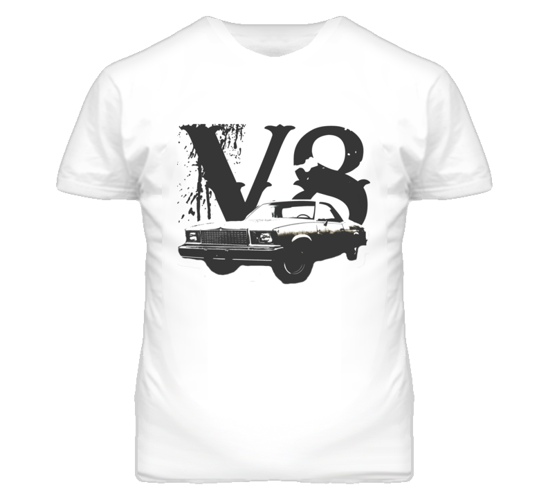 1978 GMC CABALLERO Faded Look Side View Black Graphic With V8 Size Light T Shirt
