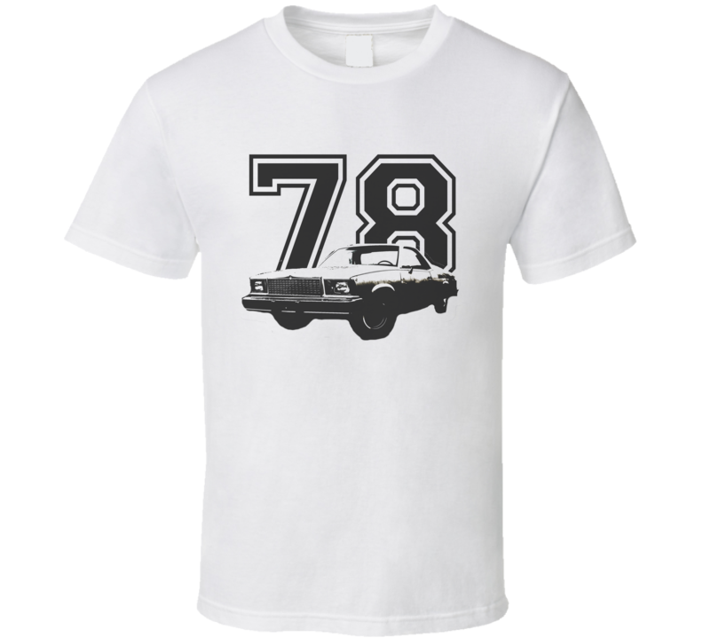 1978 GMC CABALLERO Faded Look Side View Black Graphic With Year Light T Shirt