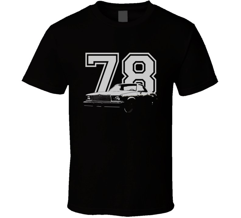 1978 GMC CABALLERO Faded Look Side View White Graphic With Year Dark T Shirt