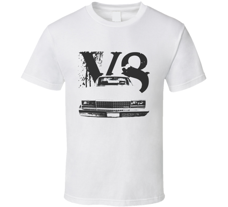 1978 GMC CABALLERO Grill VIew Black Graphic With V8 Light T Shirt