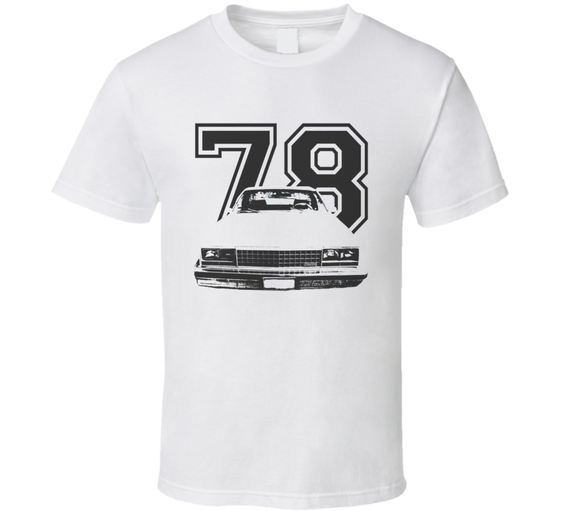 1978 GMC CABALLERO Grill VIew Black Graphic With Year Light T Shirt