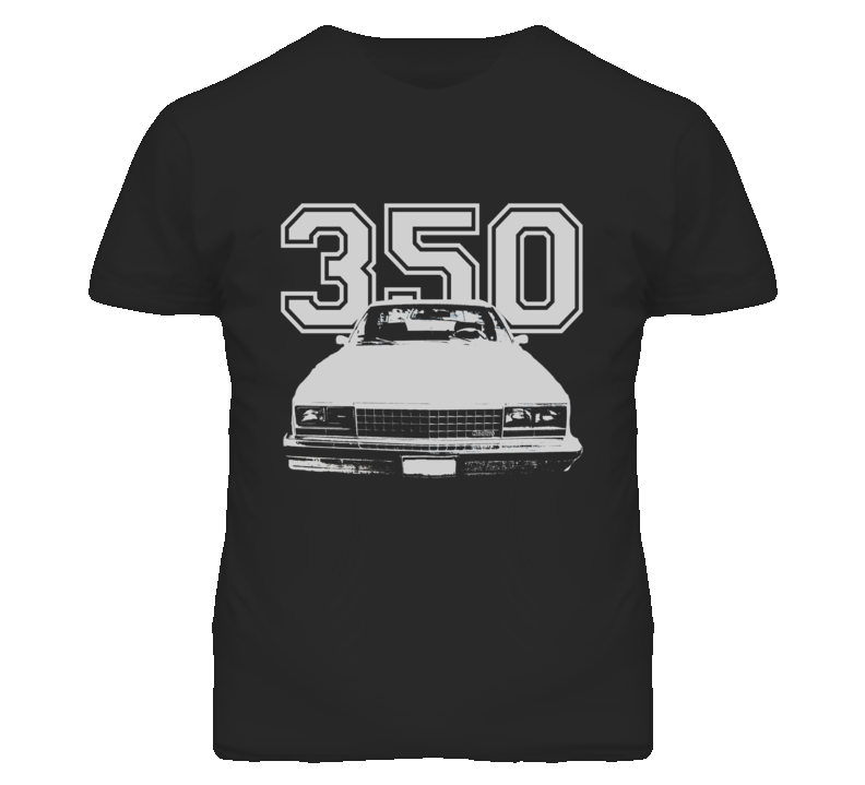 1978 GMC CABALLERO Grill View White Graphic  With Engine Size Dark T Shirt