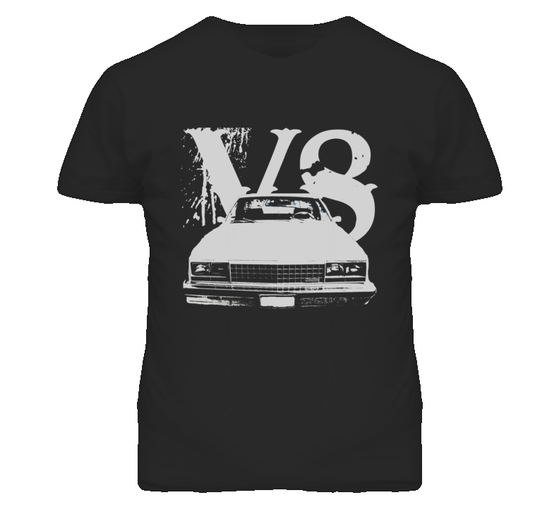 1978 GMC CABALLERO Grill VIew White Graphic With V8 Dark T Shirt