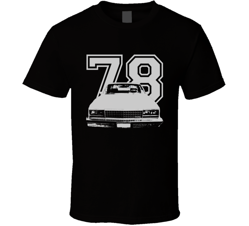 1978 GMC CABALLERO Grill VIew White Graphic With Year Dark T Shirt