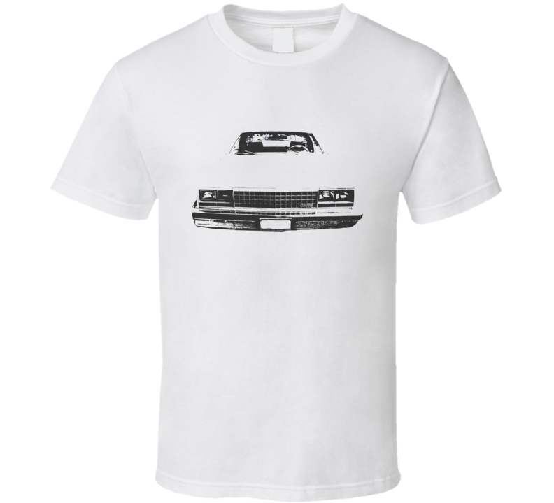 1978 GMC CABALLERO Grill VIew White Graphic Dark T Shirt
