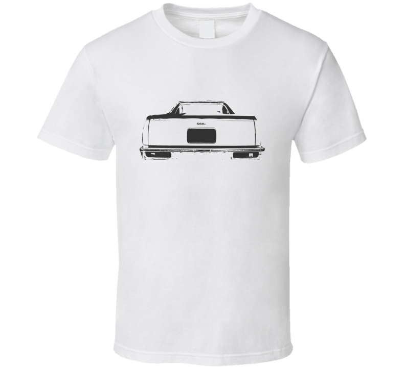 1978 GMC CABALLERO Rear View Black Graphic Light T Shirt