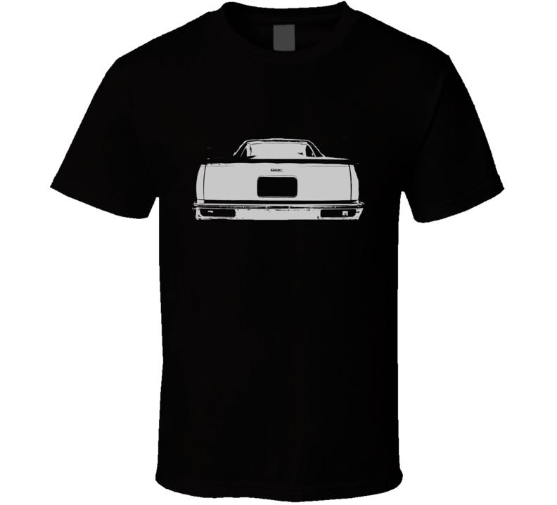 1978 GMC CABALLERO Rear View White Graphic Dark T Shirt