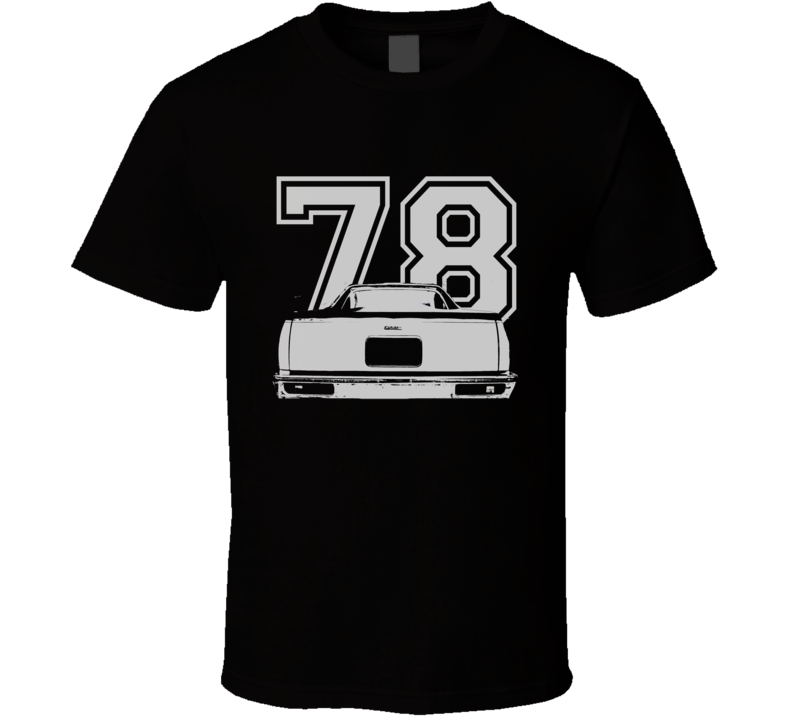 1978 GMC CABALLERO Rear View White Graphic With Year Dark T Shirt