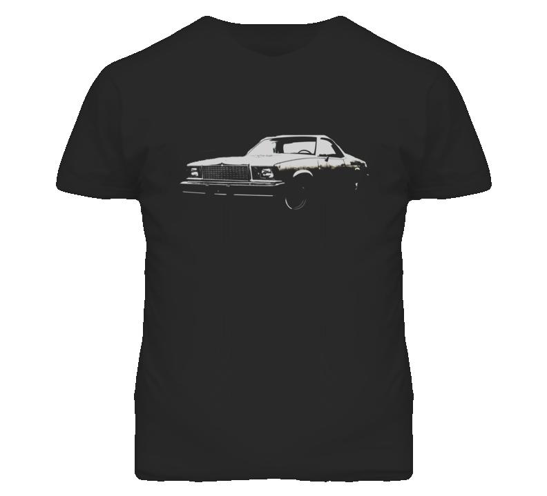1978 GMC CABALLERO Side View White Graphic Dark T Shirt