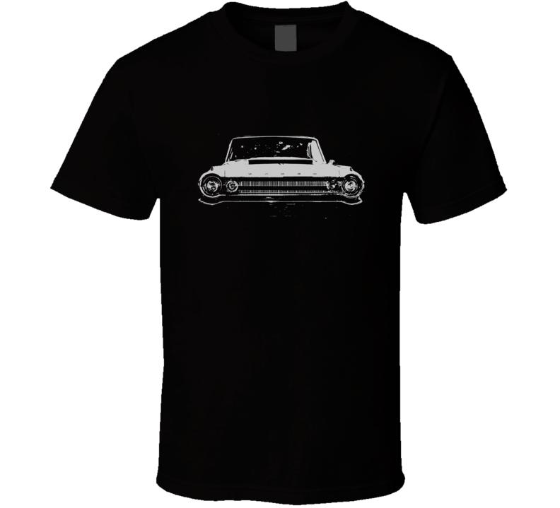 1964 DODGE POLARA Faded Look Grill View White Graphic Dark T Shirt