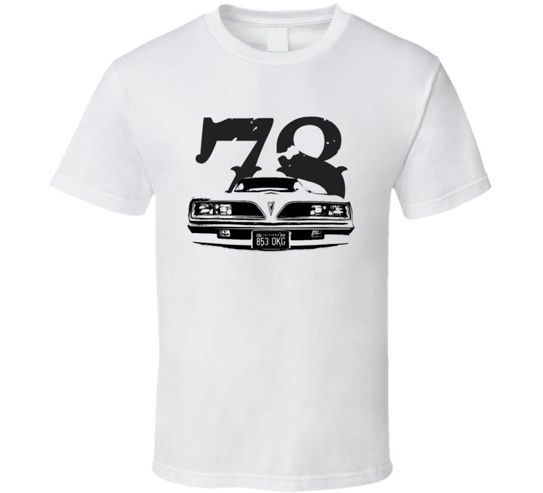 1978 Jim Rockford Pontiac Firebird Grill View Faded Look T Shirt