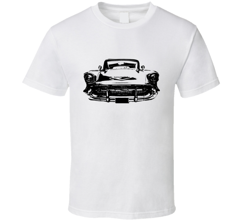 1957 Chevy Bel Air Grill View Black Graphic Light T Shirt