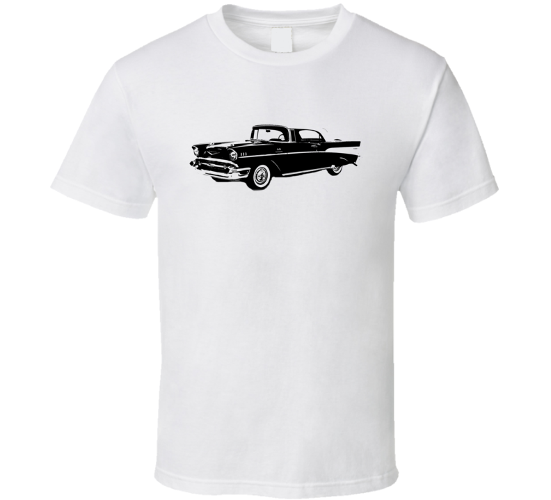 1957 Chevy Bel Air Side View Black Graphic Light T Shirt