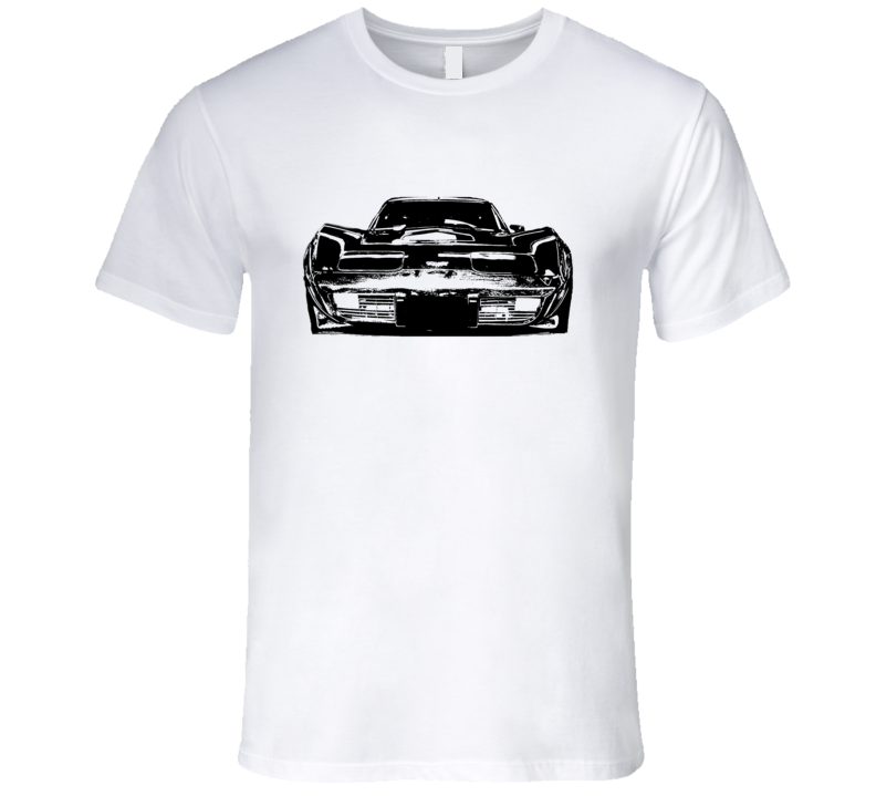 1977 Corvette Grill View Black Graphic Light T Shirt