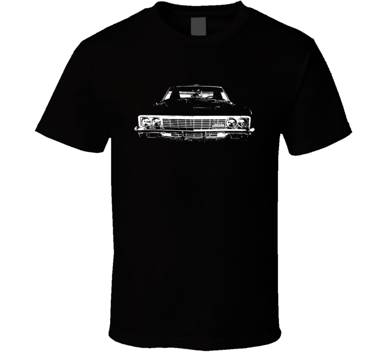 1966 Chevy Impala Grill View Faded Look Dark T Shirt