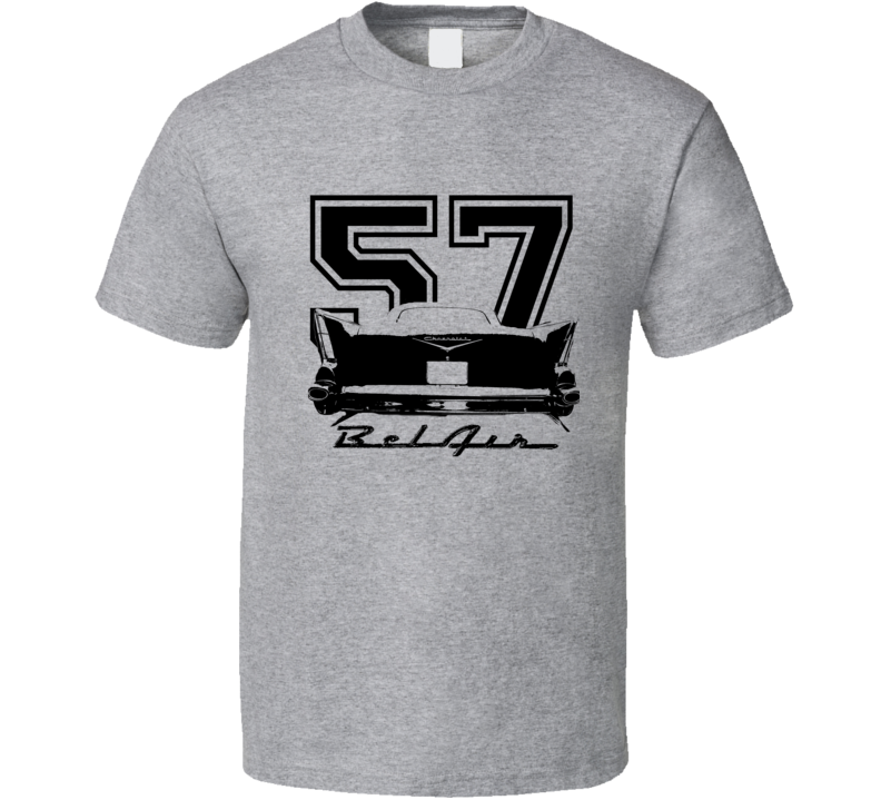 1957 Chevy Bel Air Rear View With Model T Shirt