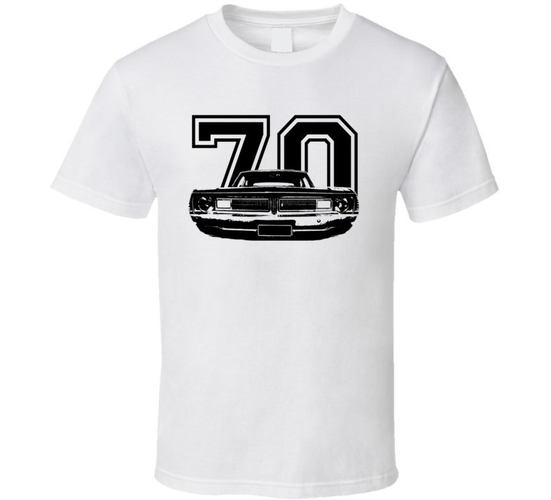 1970 Dodge Dart Grill View Black Graphic With Year Light T Shirt