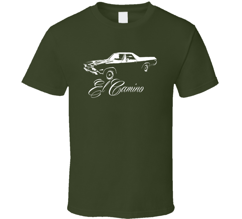 1968 El Camino Side View With Model T Shirt
