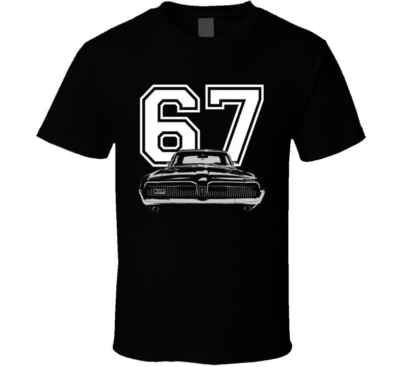 1967 Mercury Cougar Grill View Year Dark Shirt