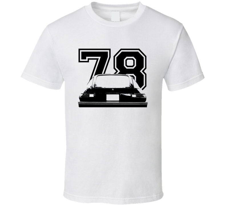 1978 AMC Pacer Rear View Black Graphic With Year Light T Shirt