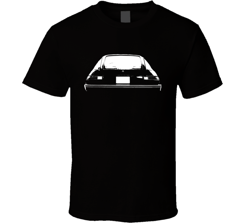 1978 AMC Pacer Rear View White Graphic Dark T Shirt