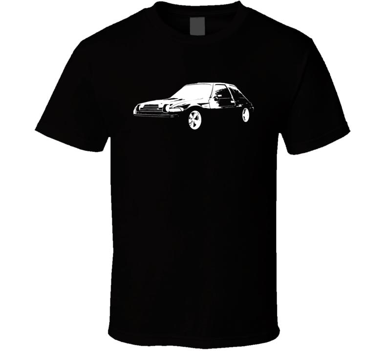 1978 AMC Pacer Side View White Graphic Dark T Shirt
