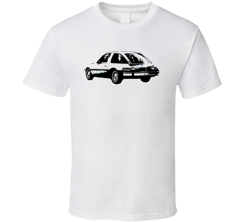 1976 AMC Pacer Side View Black Graphic Light T Shirt