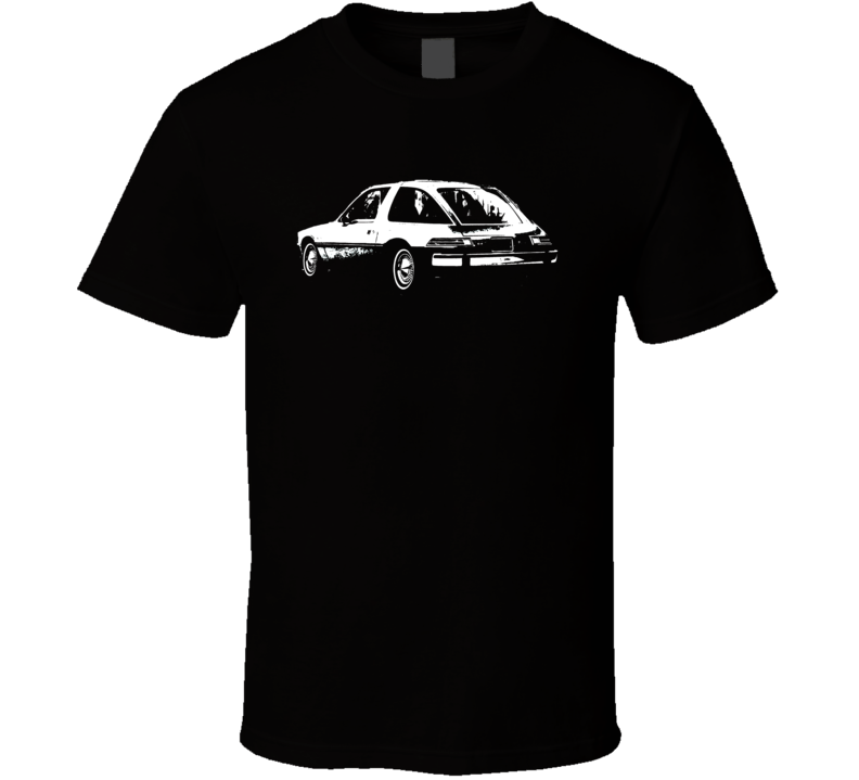 1976 AMC Pacer Side View White Graphic Dark T Shirt
