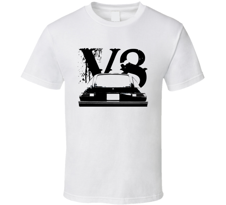 1978 AMC Pacer Rear View Black Graphic With V8 Light T Shirt