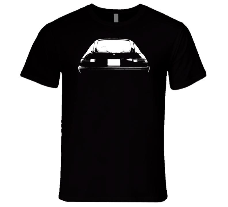 1978 AMC Pacer Rear View White Graphic Dark T Shirt