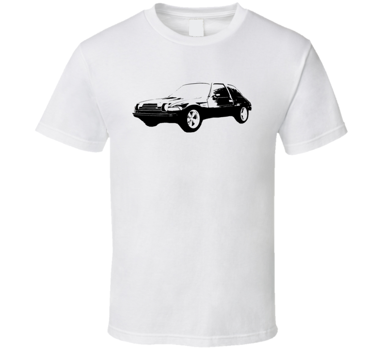 1978 AMC Pacer Side View Black Graphic Light T Shirt