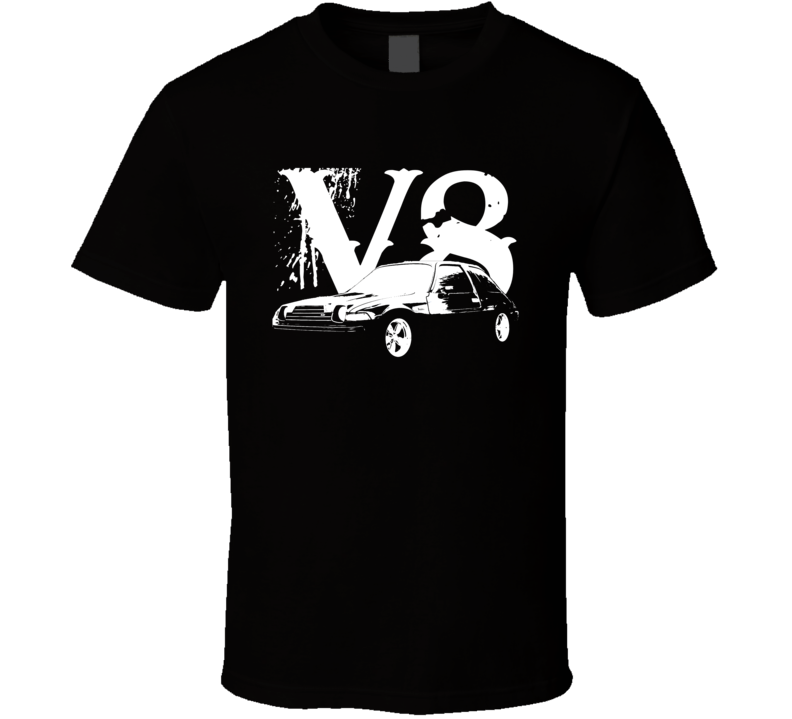 1978 AMC Pacer Side View White Graphic With V8 Dark T Shirt