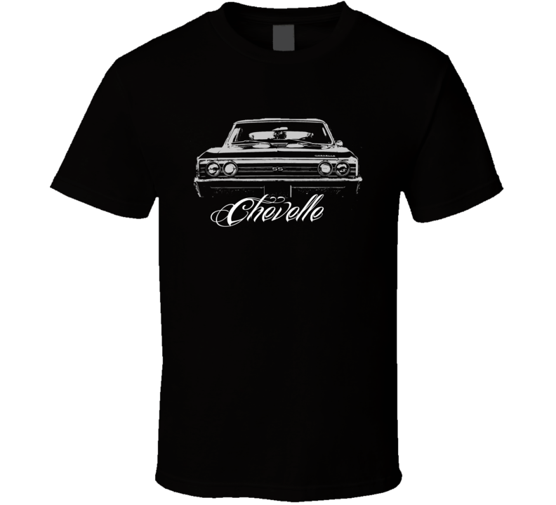 1967 Chevelle Grill With Model Dark Shirt