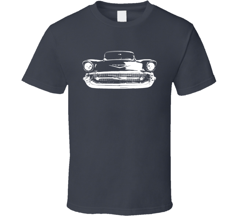 1957 Chevy Classic Grill View Dark T Shirt