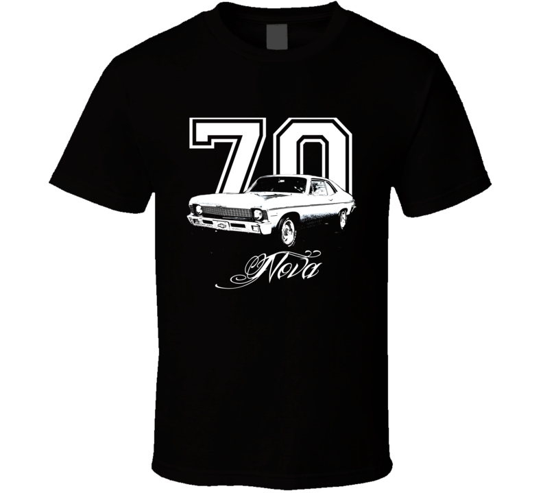 1970 Chevrolet Nova Side View Year Model Name Dark Shirt