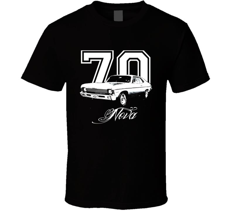 1970 Chevrolet Nova Side View Year Model Name Dark Shirt