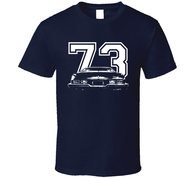 1973 Chevy Nova Faded Look Rear View Year Dark Shirt