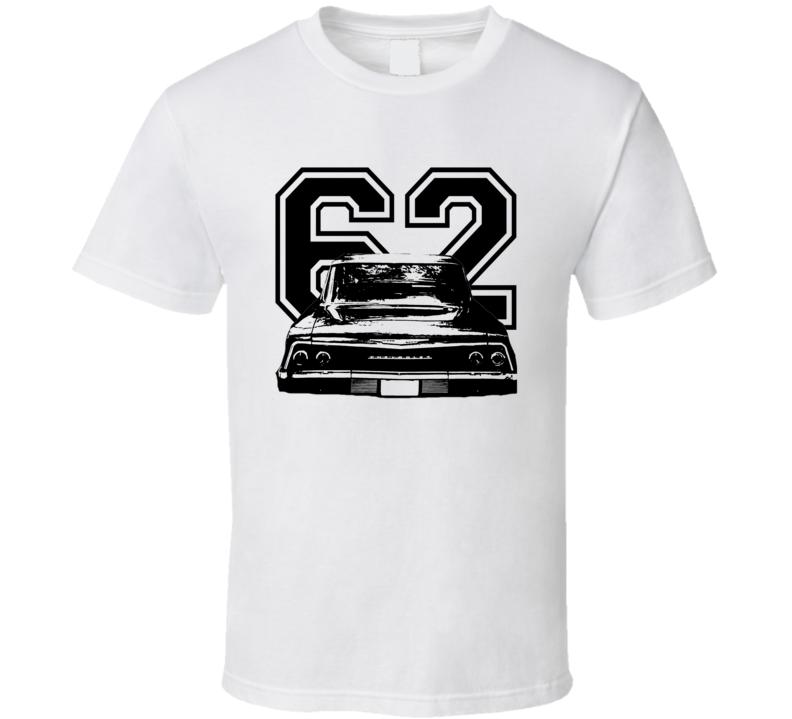 1962 Chevrolet Bel Air Rear View Year Light Shirt