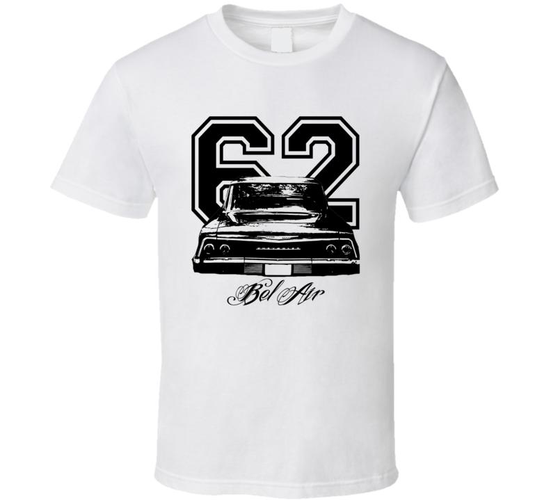 1962 Chevrolet Bel Air Rear View Year Model Light Shirt