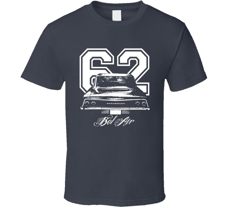 1962Chevrolet Bel Air Rear View Year Model Dark Shirt