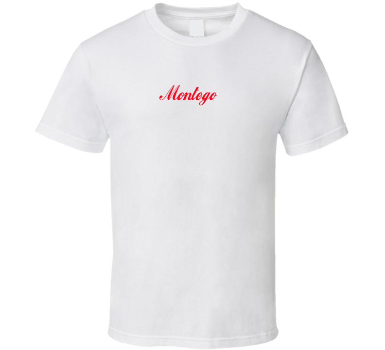 Austin Montego Cola Font Parody Faded Look Light Shirt