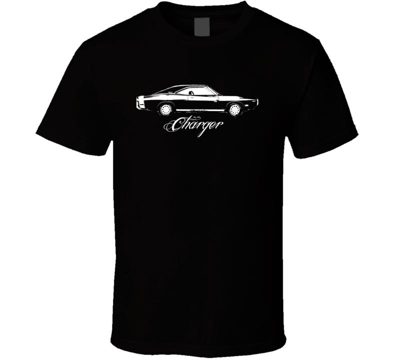 1970 Dodge Charger Side View Model Dark Shirt