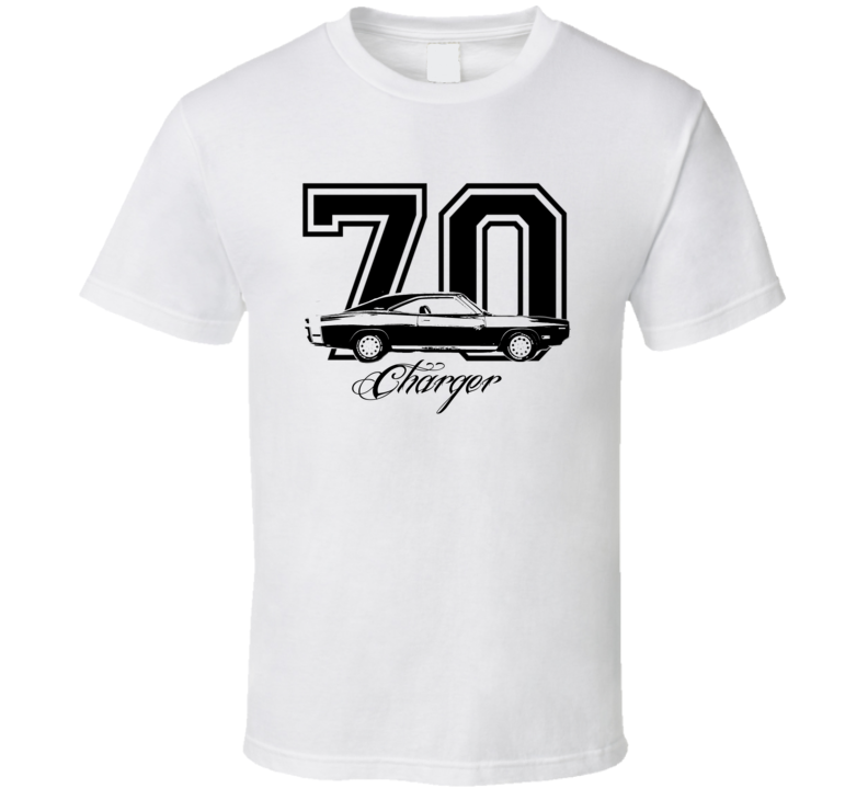 1970 Dodge Charger Side View Year Model Light Shirt