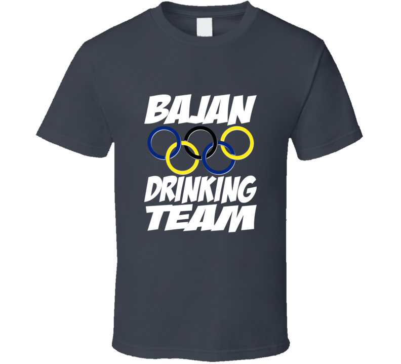 Official Bajan Olympic Drinking Team Shirt