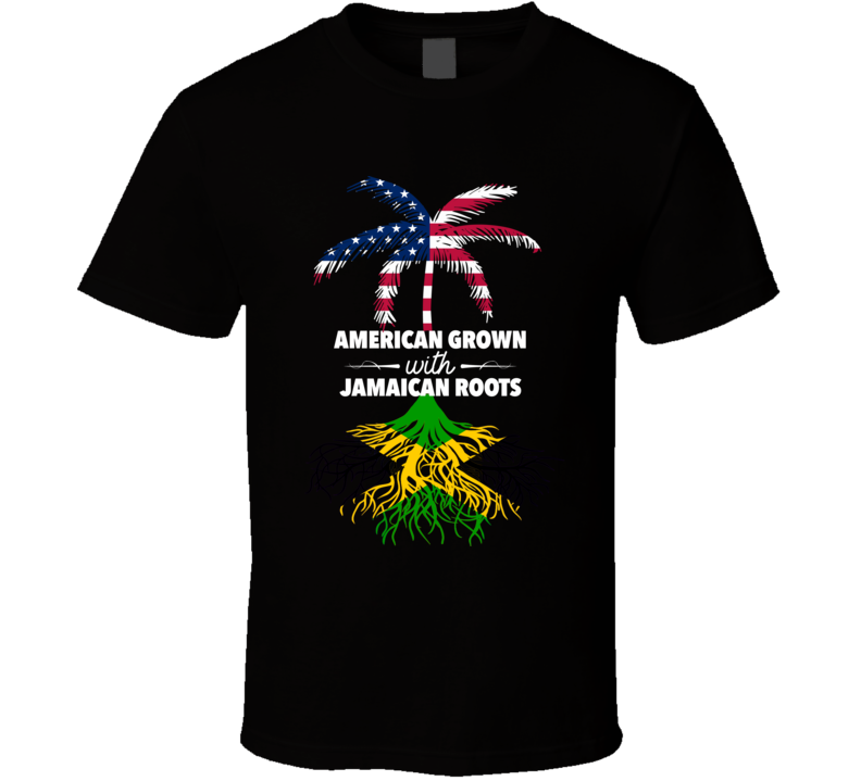 American Grown With Jamaican Roots Palm Tree Shirt