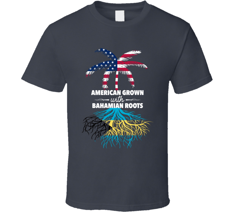 American Grown With Bahamian Roots Palm Tree Shirt