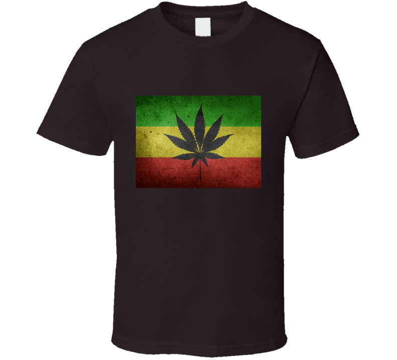 Distressed Jamaican Ganja Tee T Shirt
