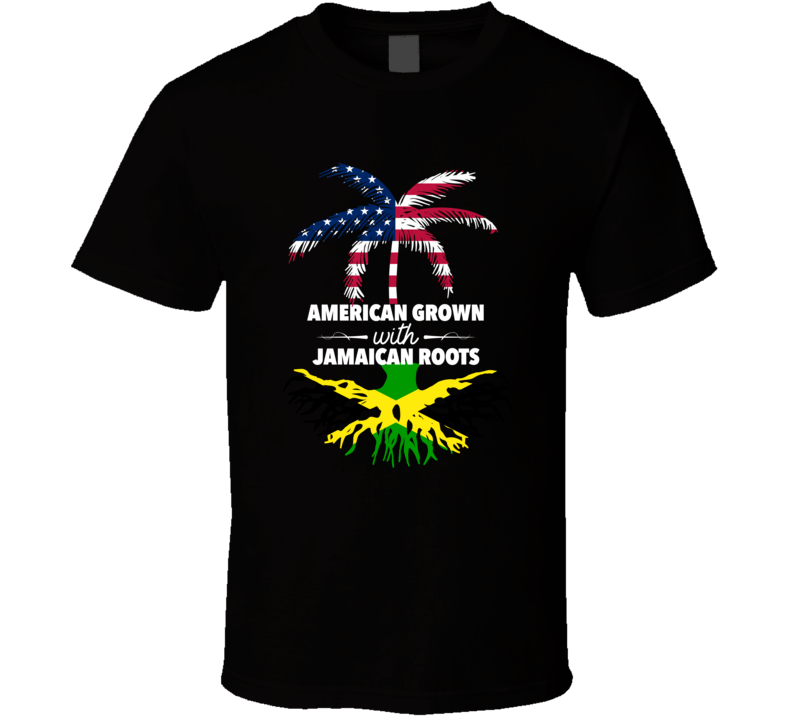 American Grown With Jamaican Roots Palm Tree T-shirt