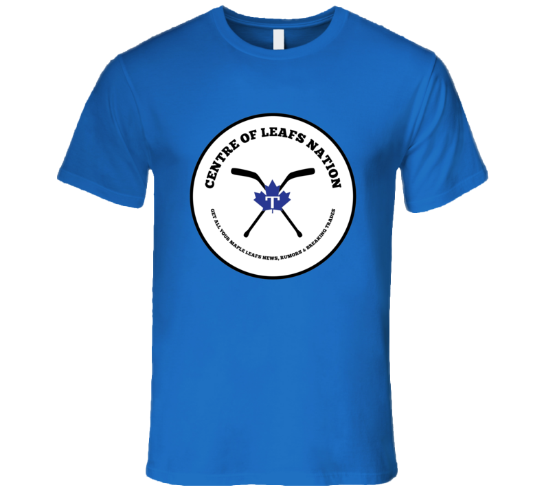 Centre Of Leafs Nation Blue T Shirt